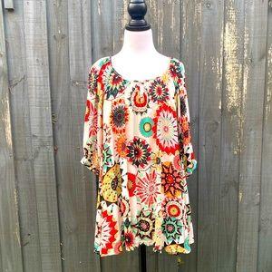 Boho Australia Bohemian Floral Print Mini Dress S